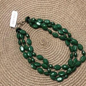 Three layer Robert Rose necklace